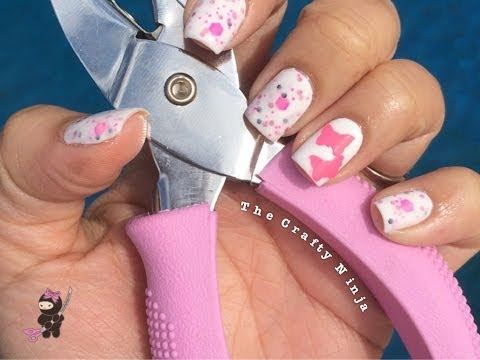 Butterfly Craft Punch Nails
