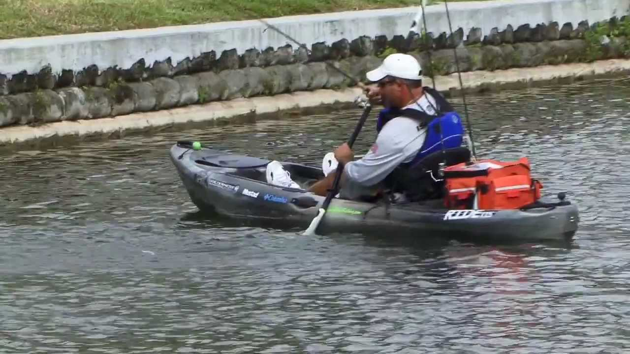 South florida bass fishing from the kayak youtube for Kayak fishing florida