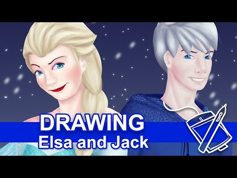 Drawing: Elsa and Jack [Faster Version]