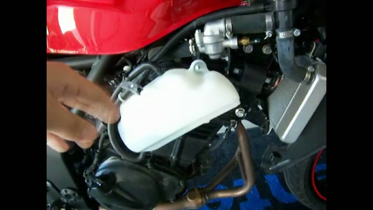 Kawasaki Ninja Coolant Reservoir Air Hose Location