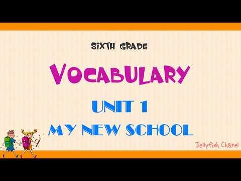 Từ vựng tiếng Anh lớp 6 - Unit 1 My new school - Chương trình mới