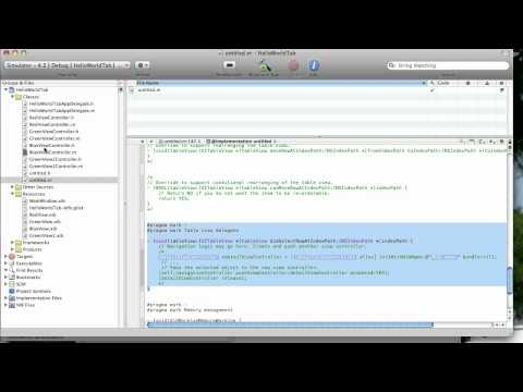 iPhone Development tutorial - add a UITableView to a view in a tab bar app