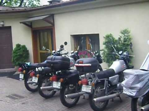 Japanese riders on MZ ETZ 250 in Kraków 23.05.2013 (JAP-H-CZ-SK-PL)