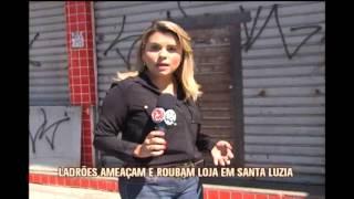 Bandidos amea�am funcion�rios e roubam loja de eletrodom�stico em Santa Luzia