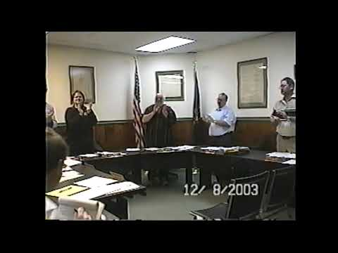 Champlain Village Board Meeting 12-8-03
