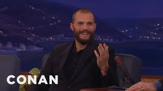 Jamie Dornan Puts On An American Accent At In-N-Out  - CONAN on TBS