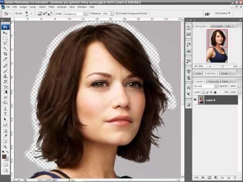 Como recortar cabelos com a Borracha de Plano de Fundo no Photoshop Tutorial