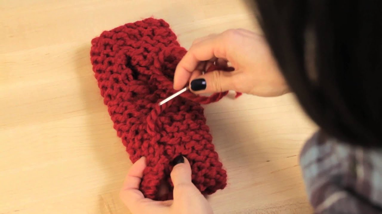 Knitting Edge Stitch For Seaming : Knitting tips for seaming garter stitch youtube