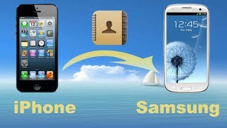 How To Transfer Contacts From IPhone 5 To Samsung, IPhone