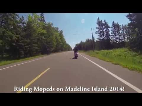 Riding Moped on Madeline Island 2014!