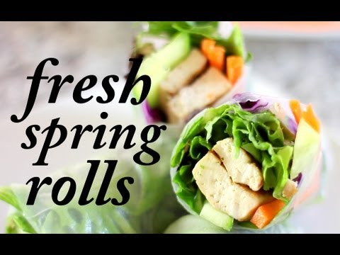 Fresh Vegan Spring Rolls | Cheap Clean Eats