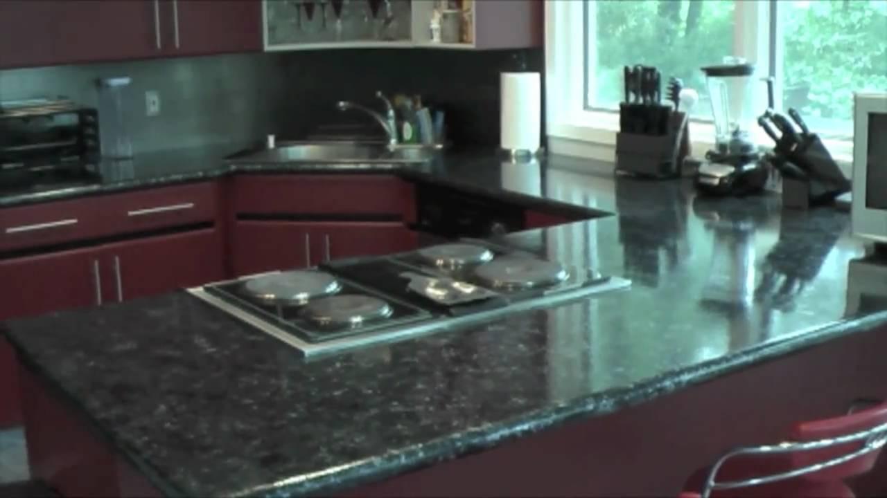 Giani Countertop Paint Youtube : Giani Faux Black Granite Countertop - YouTube