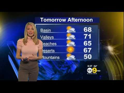 Evelyn Taft 2011/03/16 8PM KCAL9 HD; Tight pink top