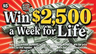 Win For Life Instant Lottery Ticket Big Winner #1