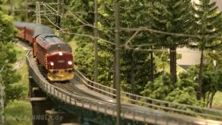 NMJ Norsk Modelljernbane Schauanlage auf der Modellbahn Ausstellung Köln 2016