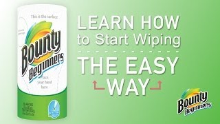 Bounty Launches Beginner Series For People New To Paper Towels