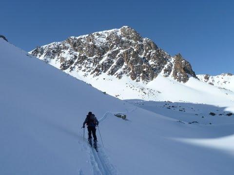 Descenso con esquís del Pic del Gargantillar, Pirineos