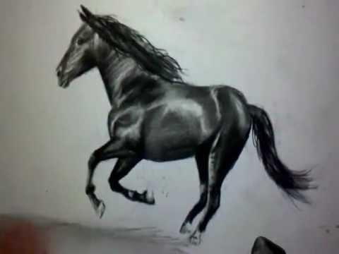 Comment dessiner un cheval au galop tutoriel youtube - Dessin facile de cheval ...