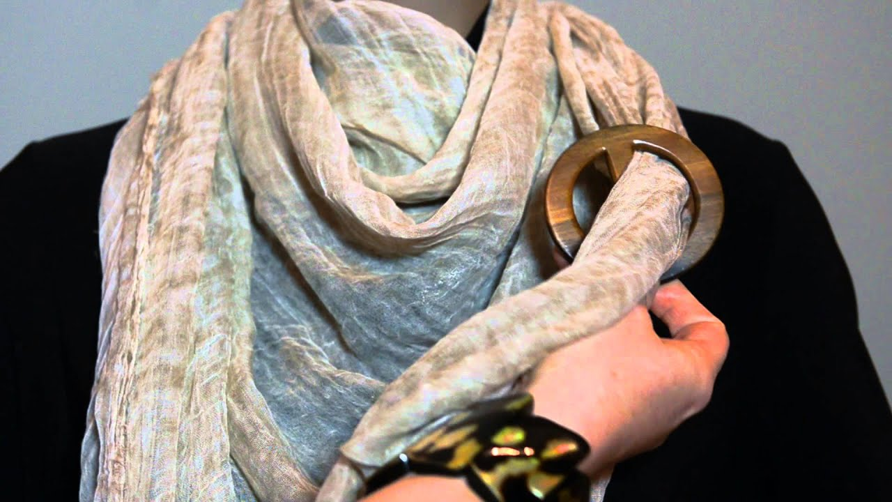 Tying A Scarf With A Scarf Ring