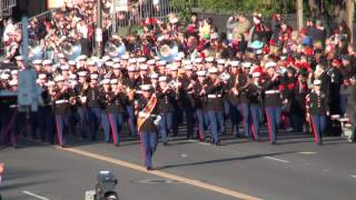 USMC West Coast Composite Band 2014 Pasadena Rose Parade