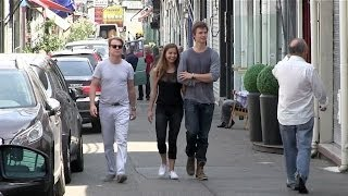 EXCLUSIVE - Ansel Elgort and Violette Komyshan at Flea Market in Paris