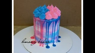 GENDER REVEAL CAKE. Baby Shower Cake. Cake Decorating