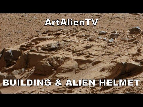 Building Foundations & Alien Warrior Helmet on Mars Surface: MARS ZOO 2014. ArtAlienTV 50fps Full