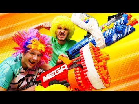 Funny Life Hacks: How to Upgrade Your Nerf Blaster! Nerf Gun Games with Guns for Boys