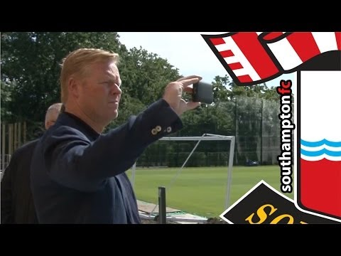 Ronald Koeman tours Saints' new training ground