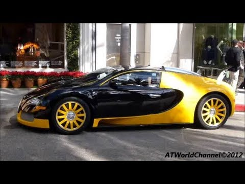 bugatti veyron 16 4 bijan edition black and yellow with chrysler prowler youtube. Black Bedroom Furniture Sets. Home Design Ideas