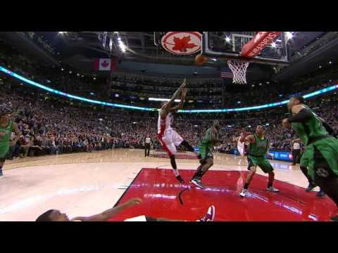Amir Johnson Lifts the Raptors Over the Celtics With a Game-Winner!