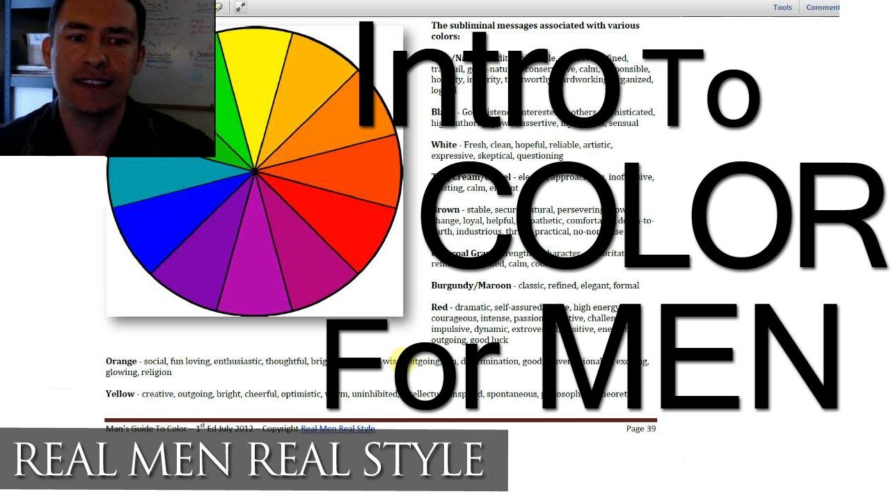 Color Men 39 S Clothing Video Style System August Announcement Mens Color Wheel Guide Youtube