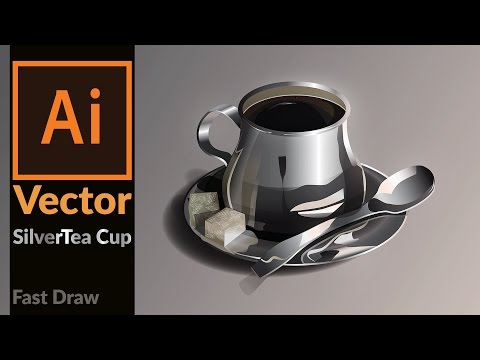 How to draw a Realistic Silver coffee cup in Adobe Illustrator