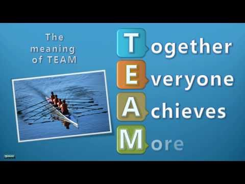 The meaning of team together everyone achieves more youtube