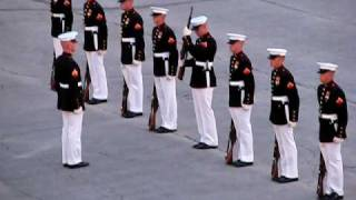 "Marines' Silent Drill With An Oops! (""Military Ceremony"