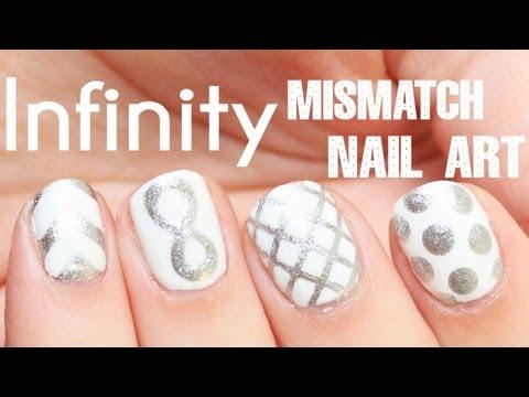 Mismatch Infinity Symbol Nail Art Totallycoolnails Nails Art 3