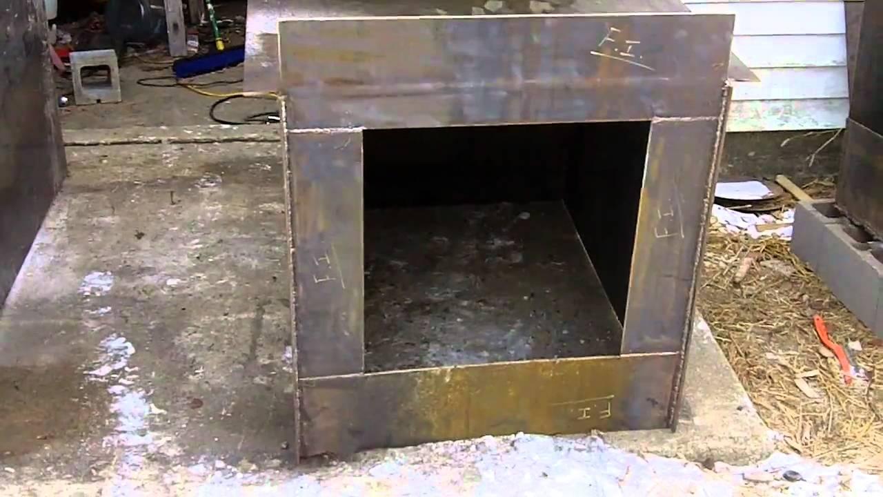DIY Outdoor Wood Burner Boiler (Hydronic Wood burning stove) free