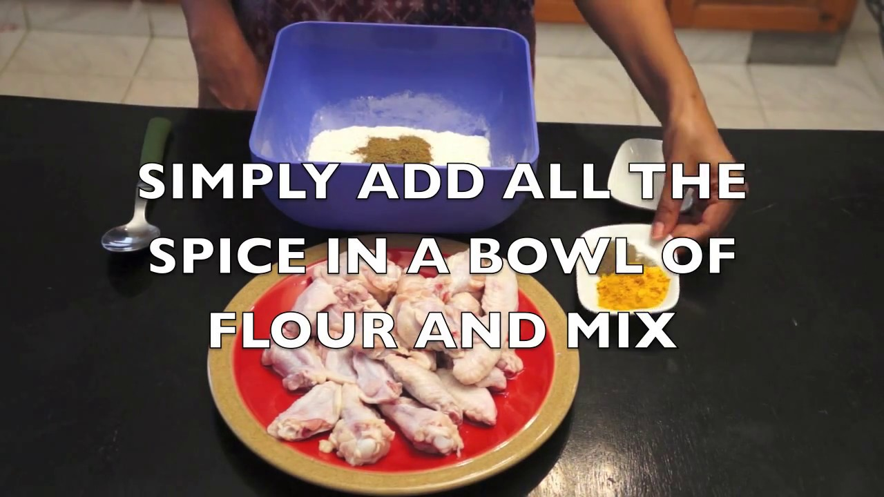Jamaican Spicy Crispy Chicken Wings with a hot pepper sauce recipe how ...