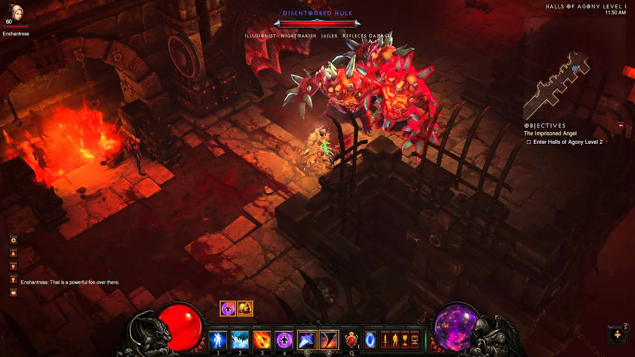 Diablo  Wizard Tank Inferno Build
