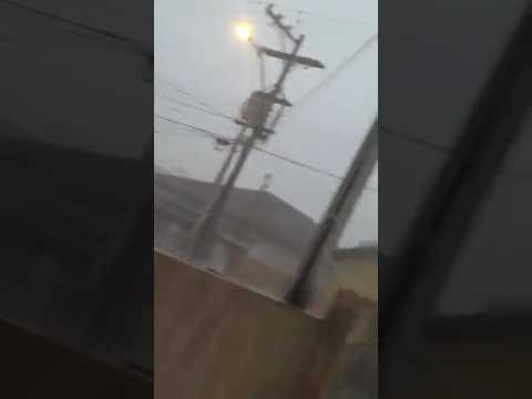 Vídeo Chuva de granizo também assusta moradores de Descalvado