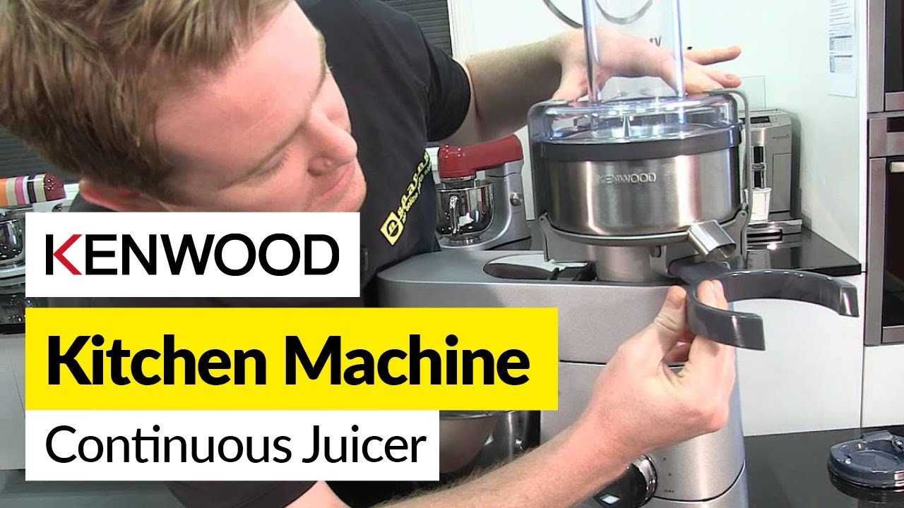 How to use a continuous juicer- Kenwood - YouTube