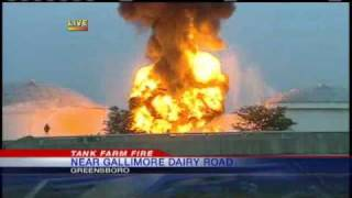 First Live Video From Tank Farm Fire