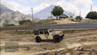 GTA 5: VERY RARE HIDDEN ARMY JEEP WRANGER (Canis Crusader