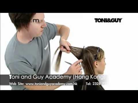 Video clip dạy cắt tóc nghệ thuật Toni&guy 1a - www.viethairhua.com