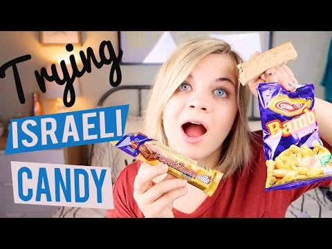 TRYING ISRAELI CANDY! 🇮🇱 // SoCassie