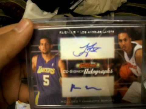 My Los Angeles Lakers Jordan Farmar rookie collection