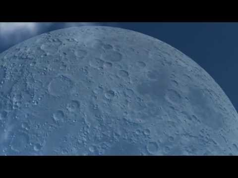 The Moon the same distance as the ISS