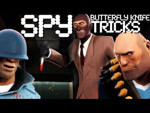 Трюки с ножом шпиона