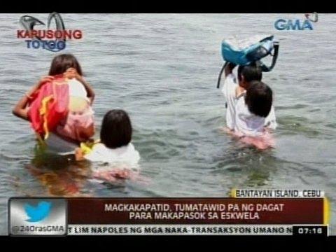 24 Oras: Magkakapatid sa Bantayan Island, Cebu, tumatawid pa ng dagat para makapasok sa eskwela