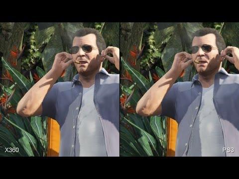 GTA 5 - Ps3 vs Xbox 360 comparação grafica